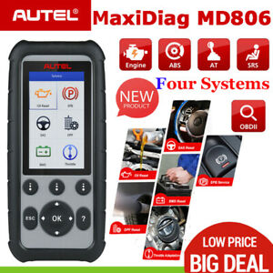 Autel Maxidiag Md806 4 System Diagnostic Tool Obd 2 Abs Sas Srs Dpf Epb Scanner
