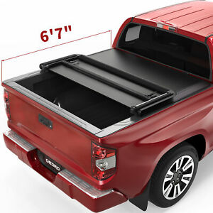 Oedro Tonneau Cover Fit For 2014 2021 Toyota Tundra 6 5ft Bed Soft Tri Fold