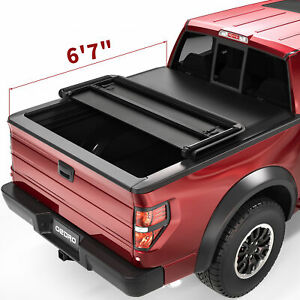 Oedro Soft Tri Fold Tonneau Cover Fit For 09 14 Ford F 150 Styleside 6 5ft Bed