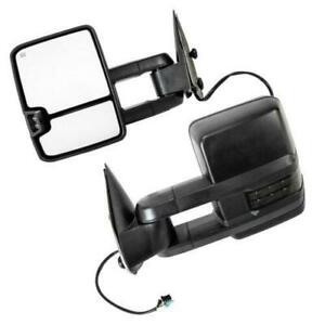 For 2003 2006 Gmc Sierra 2500 3500 Pair Set Side Power Heated Signal Tow Mirrors