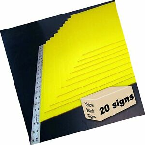 20 Yellow Blank Signs 18 x24 For Garage Sale Signs For Rent Open House Es