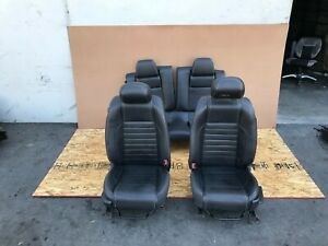 Ford Mustang Gt 2010 2014 Oem Front And Rear Seats Seat Black Leather Set 72k