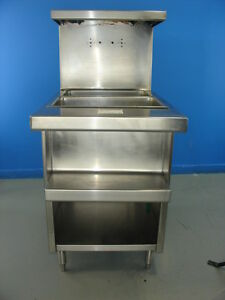Kitchen Prep 2 Well Steam Table Electric With Storage Shelves