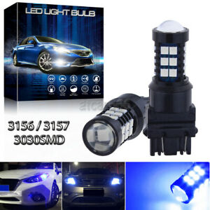 3030smd 3057 4114 3156 3157 Blue Led Daytime Running Light Drl Bulbs High Power