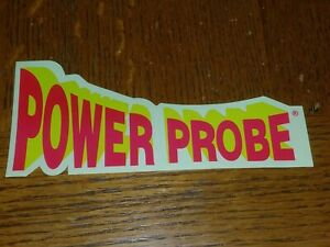 Power Probe Decal Red Yellow 5 1 2 X 2 1 2