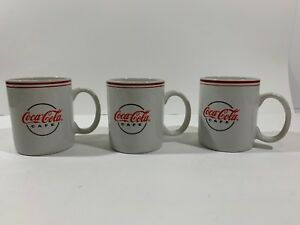 Lot 3- Coke Coca Cola Cafe Coffee Mugs Cups by Gibson Microwave/Dishwasher Safe