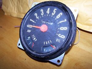 Willys Jeep Vintage Speedometer And Gauge Cluster 50s 60s 56 57 Wagon