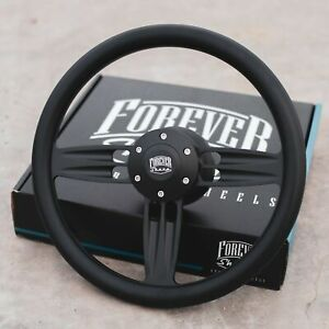 14 Double Barrel Style Steering Wheel Matte Black Chevy Gm Trucks