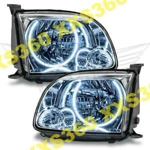 Oracle Halo 2x Headlights For Toyota Tundra Double Cab 05 06 White Led Angel Eye