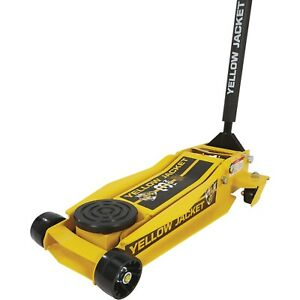 Yellow Jacket Low profile Super duty Jack 3 ton Lift Capacity 4in 23in Lift