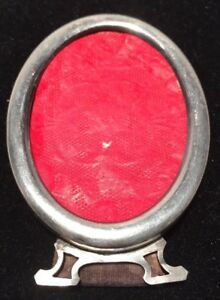 Small Antique Sterling Silver Mini Tabletop Frame