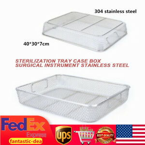 Stainless Steel Sterilization Tray Case Basket Mesh Surgical Instrument Tool Usa