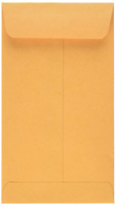 Quality Park Coin small Parts Envelopes 6 Brown Kraft 3 375 X 6 inches Box