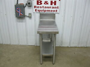 14 X 28 X 30 Tall Stainless Steel Heavy Duty Work Table Equipment Stand