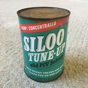 Vintage SILOO TUNE-UP AND PCV SOLVENT Metal 1 Quart Can w/ Contents - UNOPENED!!