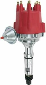 Pro Series R2r Distributor For Buick Nailhead V8 Engine Red Cap