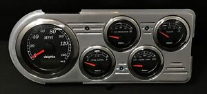 1948 1949 1950 Ford Truck 5 Gauge Gps Dash Cluster Black