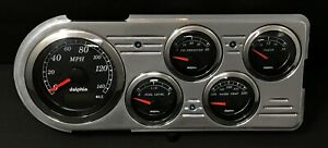 1948 1949 1950 Ford Truck 5 Gauge Gps Dash Insert Black