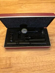 Nice Usa Made Starrett No 711 Last Word Dial Indicator Attachments Case