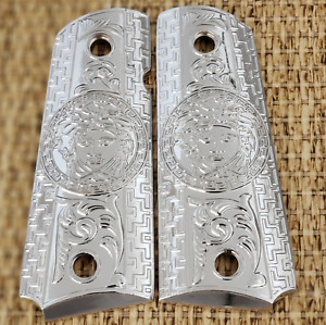 Versace Style Colt 1911 Custom Grips Nickel plated Metal 1911 full size grips $45.00