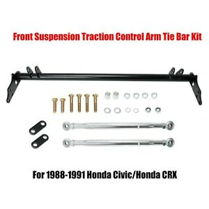 Front Suspension Traction Control Tie Bar Kit Fits 1988 1991 Honda Civic Ef Crx