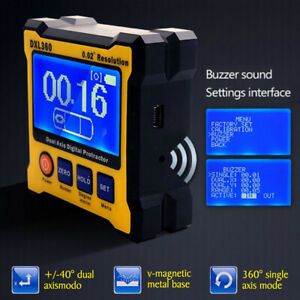 Dual Axis 0 02 Resolution Digital Angle Protractor Inclinometer Dxl360 Tool