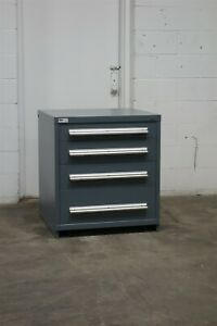 Used Stanley Vidmar 4 Drawer Cabinet 33 High Industrial Bench Height 1895