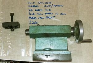 Emco Maximat V10 p Series Lathe Mt2 Tailstock Imperial Tail Stock I26s