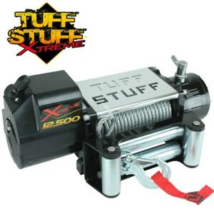 Tuff Stuff Xtreme 12 500 Lb Winch Waterproof Steel Cable