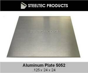 2 Pack 1 8 125 Aluminum Sheet Plate 24 X 24 5052 Save When You Buy 2