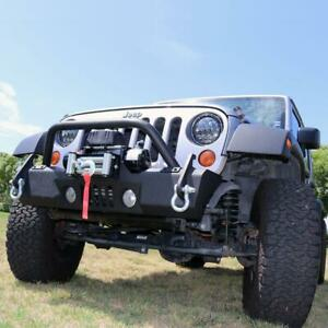 Tuff Stuff Stubby Front Winch Bumper For 07 18 Jeep Wrangler Jk
