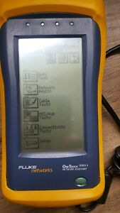 Used Fluke Onetouch Series Ii 10 100 Network Assistant W o Accessories