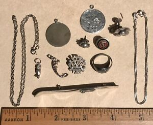 Jewelry Sterling Silver Lot 24 Grams Scrap Or Use