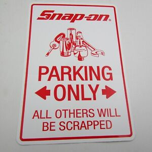 Snap On Tools Sticker Decal Parking Only All Others Scrapped Tool Box Fridge