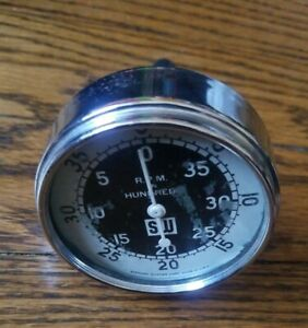 Rare Vintage Stewart Warner Sw Rpm In Hundreds Tachometer