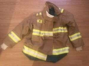 Morning Pride Fire Fighter Bunker Gear Turnout Coat Jacket L Large Excellent