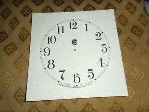 Waterbury Shelf Mantle Paper Card Clock Dial 123mm M T Parchment Effect