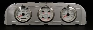 1960 1961 1962 1963 Chevy Truck 3 Gauge Gps Dash Panel Cluster White