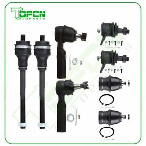 For Dodge Durango Dakota 4wd 8pcs Front Ball Joints Tie Rods Suspension Kit