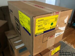 New Square D Mja36800 3p 600v 800a Powepact Circuit Breaker New In Factory Box