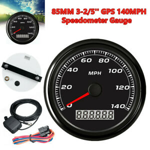 85mm 3 2 5 Gps 140mph Universal Car Motorcycle Speedometer Gauge W 3 9m Cable