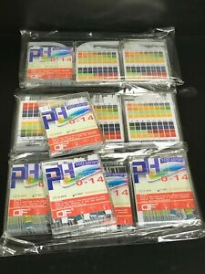 Esee Ph Test Strips Paper 0 14 0 5 Accuracy 100 Ct Lot Of 11 Packs