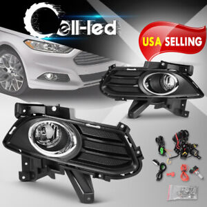 For 2013 2016 Ford Fusion Front Bumper Fog Light W Bulbs Benzel Brackets Lh Rh
