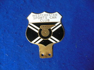 Orig 1950 S Westchester Ny Sports Car Club Badge Brass Cloisonne