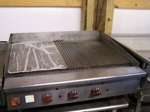 Wolf 36 Partially Grooved Griddle
