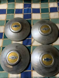 1949 1950 Chevrolet Hub Caps Vintage Automotive Wheel Covers Nice Cool B23
