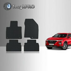ToughPRO Floor Mats Black For Hyundai Santa Fe 5 Seater All Weather 2019-2021 $79.95