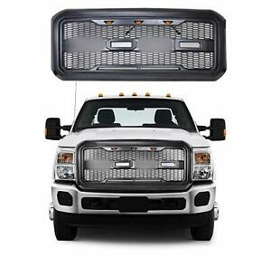 Fits 11 16 Ford F250 F350 Super Duty New Raptor Style Front Bumper Grille Abs