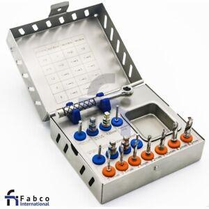 Dental Implant Surgical Drill Kit Drills Drivers Ratchet Dental Implant Kit