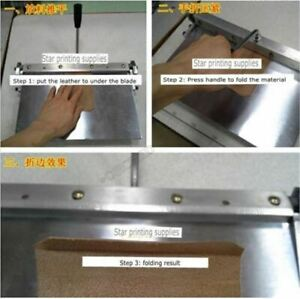 300mm Manual Leather Folding Machine For Leather Pu Sheet Leather Creasing Br Pi